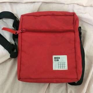 based club red slingbag