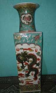 ANTIQUE, multiple color jar,