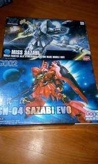 Gundam Sazabi EVO and Miss Sazabi
