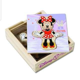 *BRAND NEW* MELISSA & DOUG Disney Minnie Mouse Mix and Match Dress-Up Wooden Play Set (18 pcs)