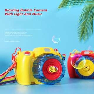 Automatic Electric Camera Shaped Soap Bubble Machine Bubble Gun Blowing Bubbles Toy Machine With Light And Music and Light