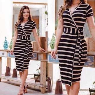 Stripes Bodycon Drese