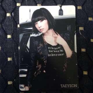 [OFFICIAL] SNSD MR.Taxi/RDR Jpn - Taeyeon Photocard
