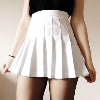 White AA Inspired tennis skirt