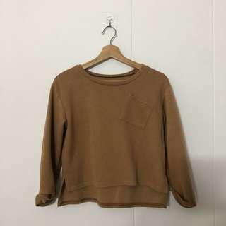 Brown sweater with pocket