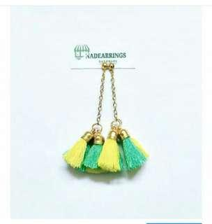 Anting panjang - anting hijab / Four tassel
