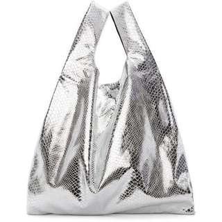 MM6 Maison Margiela Women's Snake Lame Print Shopping Bag