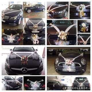 🚚 Wedding Car Decoration / Bridal Car Decoration