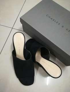 Charles & Keith Slip On Open Toe Heels