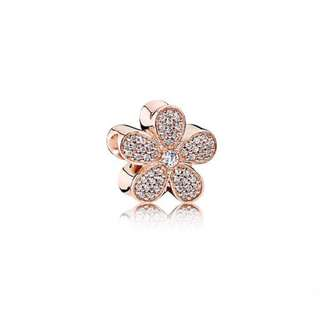 712dde6c1 Pandora Charm Dazzling Daisy Charm Rose Gold Italy Sterling Silver 92.5  (CHARMS ONLY)