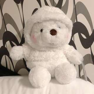 東京迪士尼冬日限定白色Winner The Pooh小熊維尼