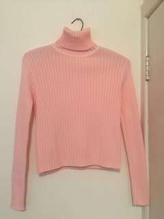 Cutest Pink Turtleneck