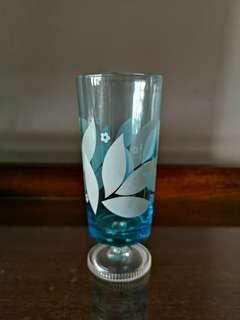Vintage footed glass x 5