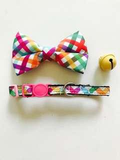 Cat Collar with Bow Tie Set