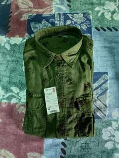 Unilqo Flannel Printed Long Sleeve Shirt