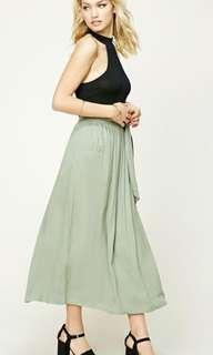 FOREVER 21 Contemporary Sea Green Maxi Skirt