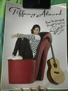 Tiffany Alvord Signed Poster