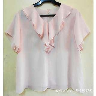 L-XL size Baby Pink Formal top