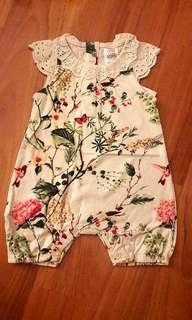 NEXT 3m-6m and 6m-9m Baby Rompers (leafy)