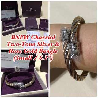 BNEW Charriol Two Tone Silver and Rose Gold Bangle (small)