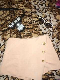 Cream palda shorts