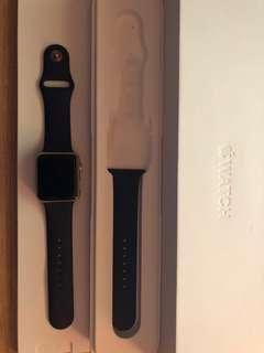 Apple Watch Series 1 - Gold Aluminium Case with Midnight Blue Sport Band