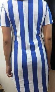 Ladies Dress : Blue Stripes