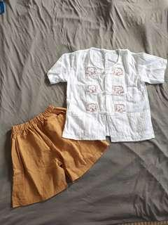 Suitable 1-3 yrs old traditional thailand costume clothing set