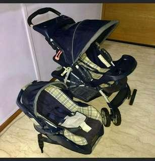 Graco Literider Stroller With Base And Car Seat