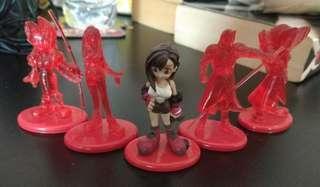 Final Fantasy 7 Coca Cola figurines