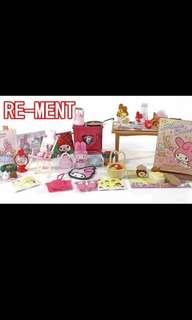 Re-ment 食玩 My melody winter vaction