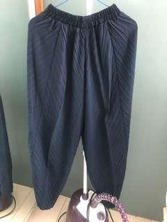 Sale navy blue balloon pants