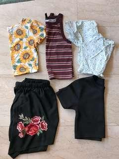 CLEARANCE CROP TOPS