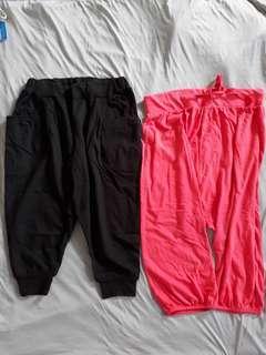 #prelovedwithlove Zara Trf Peach Red / Black Pocket Short Pants