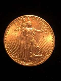 1925 United States Liberty Pure Gold 20 Dollars Coin Authenticity Guaranteed