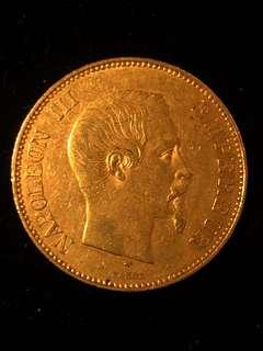 1855 France Napoleon III 100 Francs Pure Gold Coin Authenticity Guaranteed