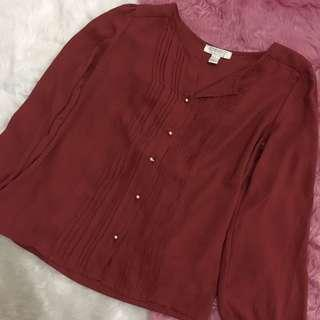 F21 Chiffon Longsleeved Top for Office
