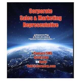 🎪🏃🏼(Travel & Learn) Corporate Sales Representative🏃🏼🎪