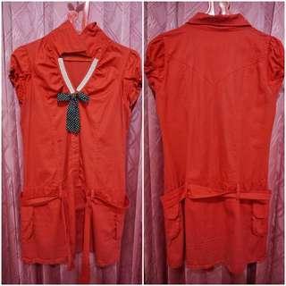 Batik Dress Gaun Batik Merah Gaun Geraja Batik Merah Baju Batik Merah Gaun Pesta Gaun Natal
