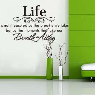 🚚 Life wall decal sticker