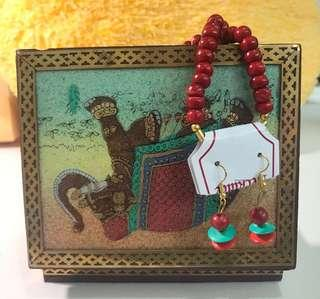 Indian necklace & earring