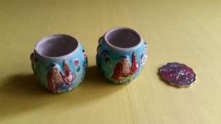 古陶瓷雀仔柸