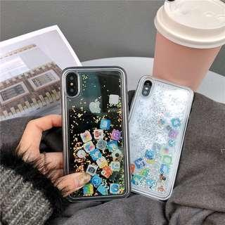 iPhone App Clear Case with Glitters