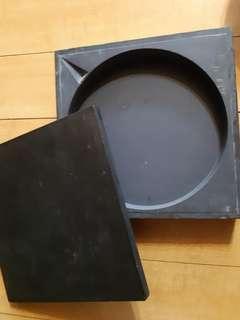 古舊大圓形名墨硯金星帝砚