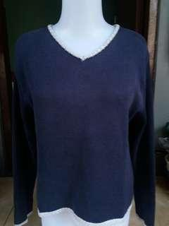 FreeOng Crop knit Sweater.