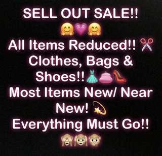 SUMMER CLOSET CLEAN OUT SALE!! EVERYTHING MUST GO!!
