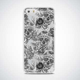 Candy Skull clear soft case Iphone 5 5s se 6 6 Plus 7 8 X