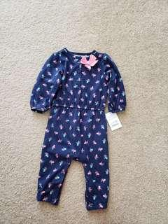Baby Girl One Piece Clothing / Pajamas (Carter's brand, 6 months)