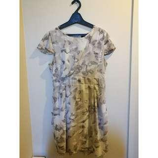 GREY FLOWERY PAGANI DRESS SIZE 14