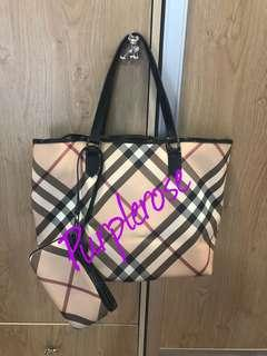 {FURTHER REDUCTION} Authentic Burberry Medium Nova Check Tote